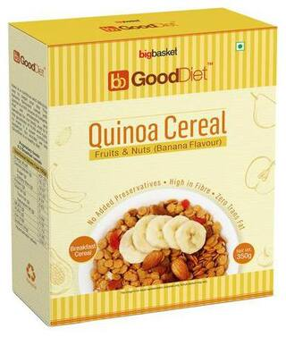 GoodDiet Quinoa Cereal - With Fruits & Nuts  Banana Flavour 350 g