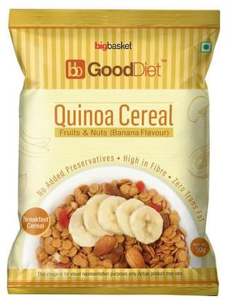 GoodDiet Quinoa Cereal - With Fruits & Nuts, Banana Flavour 30 g