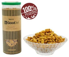Gooddiet Snacks Roasted Peanuts Olive N Herbs 150 Gm