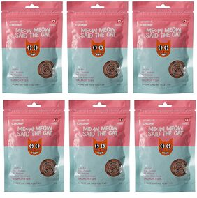 Goofy Tails-Chomp Cat Treat Salmon Fish 50g (Pack of 6)