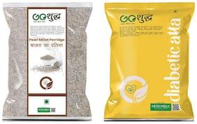 Goshudh Bajra Daliya (Pearl Millet Porridge)-2kg & Diabetic Atta (Diabetic Flour)-1kg