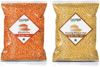 Goshudh Masoor Dal 750g & Moong Mogar 750g (Pack of 2)