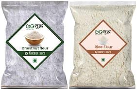 Goshudh Premium Quality Chestnut Flour/ Singhada 250 g & Rice Flour 1kg