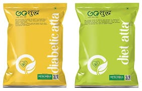 Goshudh Premium Quality Diabetic Atta 1kg And Diet Atta 1kg Combo (Pack of 2)