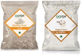 Goshudh Premium Quality Rajgira Flour 1kg & Barley Atta/Flour 1kg (Pack of 2)