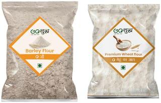 Goshudh Premium Quality Barley Atta/Flour 500g & Wheat Flour/ Gehu Atta 1kg (Pack of 2)