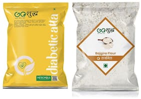 Goshudh Premium Quality Rajgira Flour 1kg & Diabetic Atta/Flour 1kg