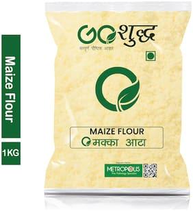 Goshudh Premium Quality Makka Atta (Maize Flour) 1 kg (Pack Of 1)