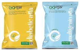 Goshudh Premium Quality Diabetic Atta 1kg And Multigrain Atta 1kg Combo (Pack of 2)