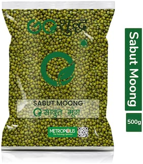 Goshudh Premium Quality Moong Dal Sabut (Green Gram Beans Whole)-500g (Pack Of 1)