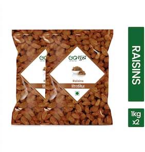 Goshudh Premium Quality Raisins/ Kismis 1 kg each (Pack of 2)
