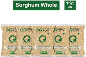 Goshudh Premium Quality Jowar Sabut (Sorghum Whole Grain)-1Kg (Pack Of 5)