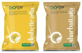 Goshudh Premium Quality Diabetic Atta 1kg And Sharbati Atta 1kg Combo (Pack of 2)