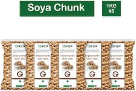 Goshudh Premium Quality Soya Chunks 1 kg (Pack Of 5)