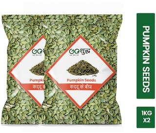 Goshudh Premium Quality Pumpkin Seed 1 kg each (Pack of 2)