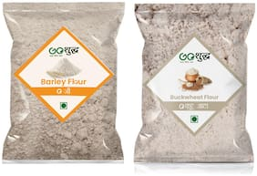 Goshudh Premium Quality Barley Atta/Flour 500g & Kuttu Atta 1kg (Pack of 2)