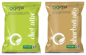 Goshudh Premium Quality Diet Atta 1kg And Sharbati Atta 1kg Combo (Pack of 2)