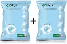 Goshudh Premium Quality Multigrain Atta Combo (1 Kg)Pack of 2