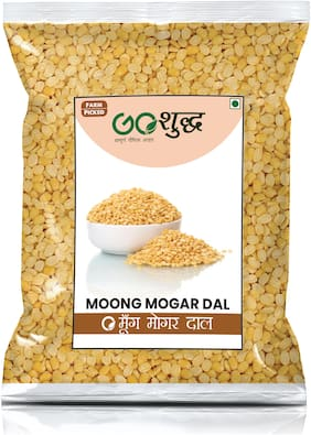 Goshudh Premium Quality Yellow Moong Mogar Dal (Split), 750g