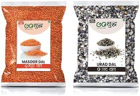 Goshudh Premium Quality Masoor Dal & Kali Urad Dal 400 g Each ( Pack of 2 )