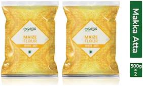 Goshudh Premium Quality Maize/Makka Atta/Flour 500g Combo (Pack of 2)