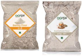 Goshudh Premium Quality Kuttu Atta 500g & Barley Atta/Flour 500g (Pack of 2)