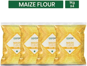 Goshudh Premium Quality Maize Flour / Makka Atta 1Kg (Pack of 4)