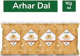 Goshudh Premium Quality Arhar Dal -1kg (Pack of 4)
