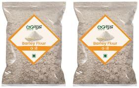 Goshudh Premium Quality Barley Flour 1kg, (Pack of 2)