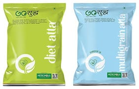 Goshudh Premium Quality Diet Atta 1kg And Multigrain Atta 1kg Combo (Pack of 2)