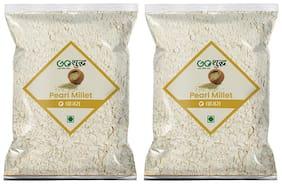 Goshudh Premium Quality Bajra/Pearl millet Atta 1kg, (Pack of 2)