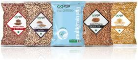 Goshudh Rajma 750g;Kala Chana 750g;Lobhia 750g;Chana Dal 750g;Multigrain Flour 1kg (Pack of 5)