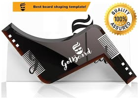 GotBeard All in One Beard Shaping Template Tool & Beard Comb. Premium Quality, Ideal for Straight & Curve Cut, Goatee, Sideburns & Neckline. Beautiful Package, Perfect Gift.
