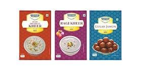 Govind Milk and Milk Products Shahi Dry Fruit Kheer 100 g/Raghi Kheer 100 g & Gulab Jamun 100 g Combo Pack