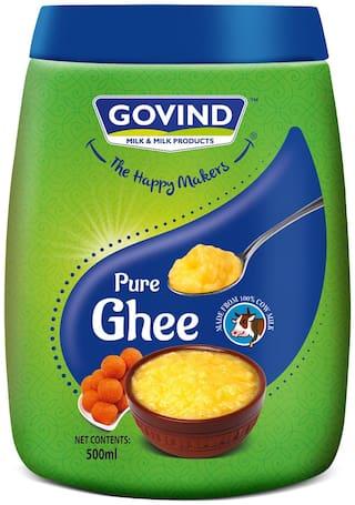 GOVIND MILK & MILK PRODUCTS Cow Ghee 500ml Jar
