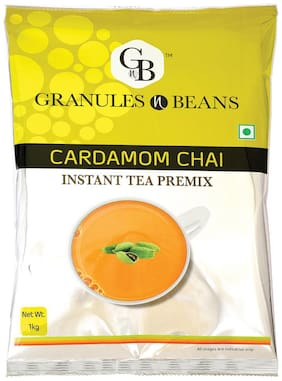 Granules and Beans Cardamom (Elaichi) Instant Tea Premix - 1 kg Pack