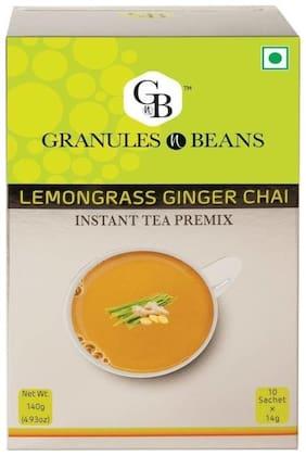 Granules and Beans Lemongrass Ginger Instant Tea Premix (10 Sachetx14g, 140g)