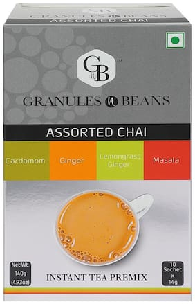 Granules and Beans Assorted CHAI Instant Tea Premix - (10 Sachetx14g=140g