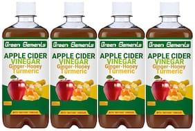 Green Elements - Apple Cider Vinegar & Ginger-Honey-Turmeric (Raw & Unrefined) with Mother Vinegar, 2000ml