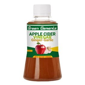 Green Elements - Apple Cider Vinegar & Ginger-Garlic with Mother Vinegar, 250ml