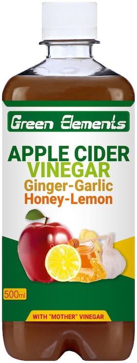 Green Elements - Apple Cider Vinegar & Ginger-Garlic-Honey-Lemon with Mother Vinegar 500ml