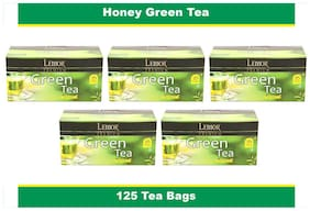 Lemor Honey Green Tea Bag with Natural ingredients and No added preservative best for weight loss | Aids in detox| Rich in antioxidant (5 x 25 Tea Bags)