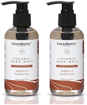 Greenberry Coconut Hand Wash (200ml, Pack of 2)