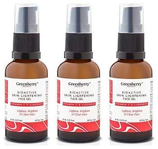 Greenberry Organics Bio Active Skin Lightening Face Gel 30 ml (Pack of 3)