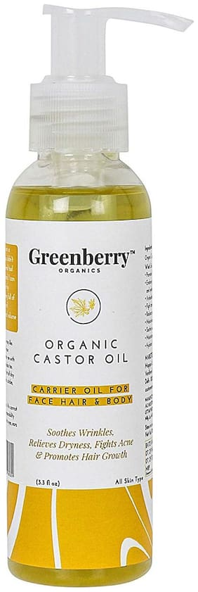 Greenberry Organics Castor Oil for Face, Hair Care and Body 120 ml