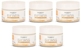 Greenberry Organics Bio Active Bright Day Cream with SPF 25 PA+++ UVA/UVB Protection 50g (Pack of 5)