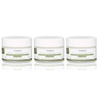 Greenberry Organics Aloe Vera Cucumber SPF 50+ Sunscreengel with UVA/UVB Protection;PA+++ For Men & Women;50g (Pack of 3)