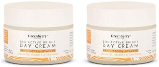 Greenberry Organics Bio Active Bright Day Cream with SPF 25 - 50 g (Pack of 2)