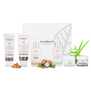Greenberry Organics Complete Day & Night Skin Care Routine Box (Pack of 6)