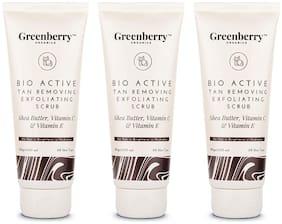 Greenberry Organics Bio Active Tan Removal & Exfoliating Scrub 120 g (Pack of 3)